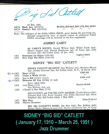 Catlett autograph