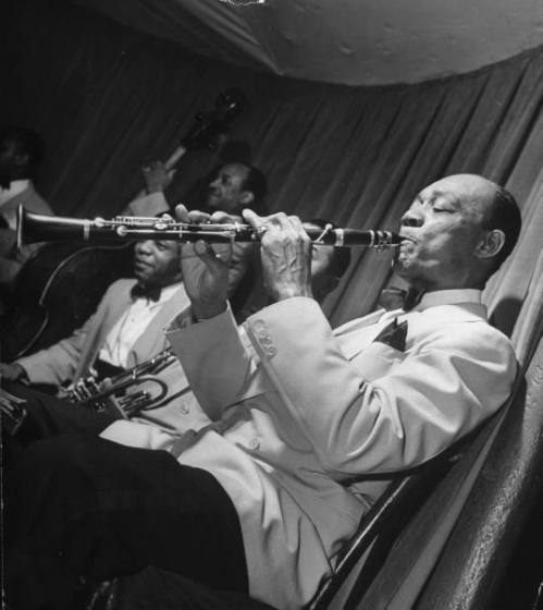 Ed Hall at Cafe Society, with Mouse Randolph and Johnny Williams