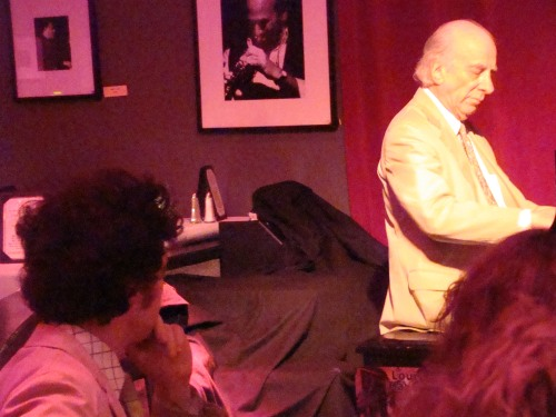 Ehud Asherie studies Dick Hyman at Birdland