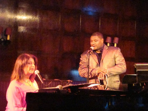 Daryl Sherman and Wycliffe Gordon at the Oak Room