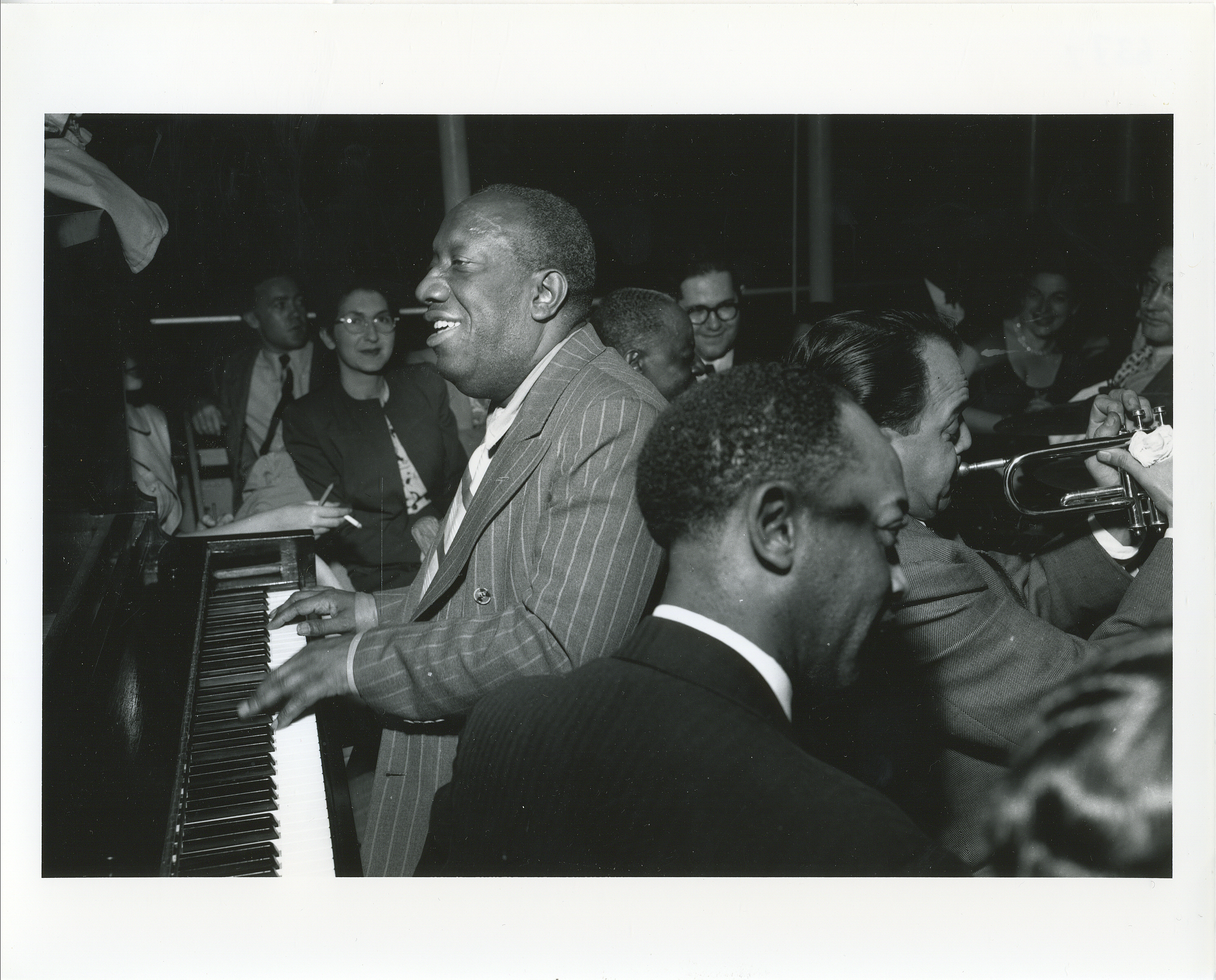 James P. Johnson, Marty Marsala, Baby Dodds, 1946, by Charles Peterson