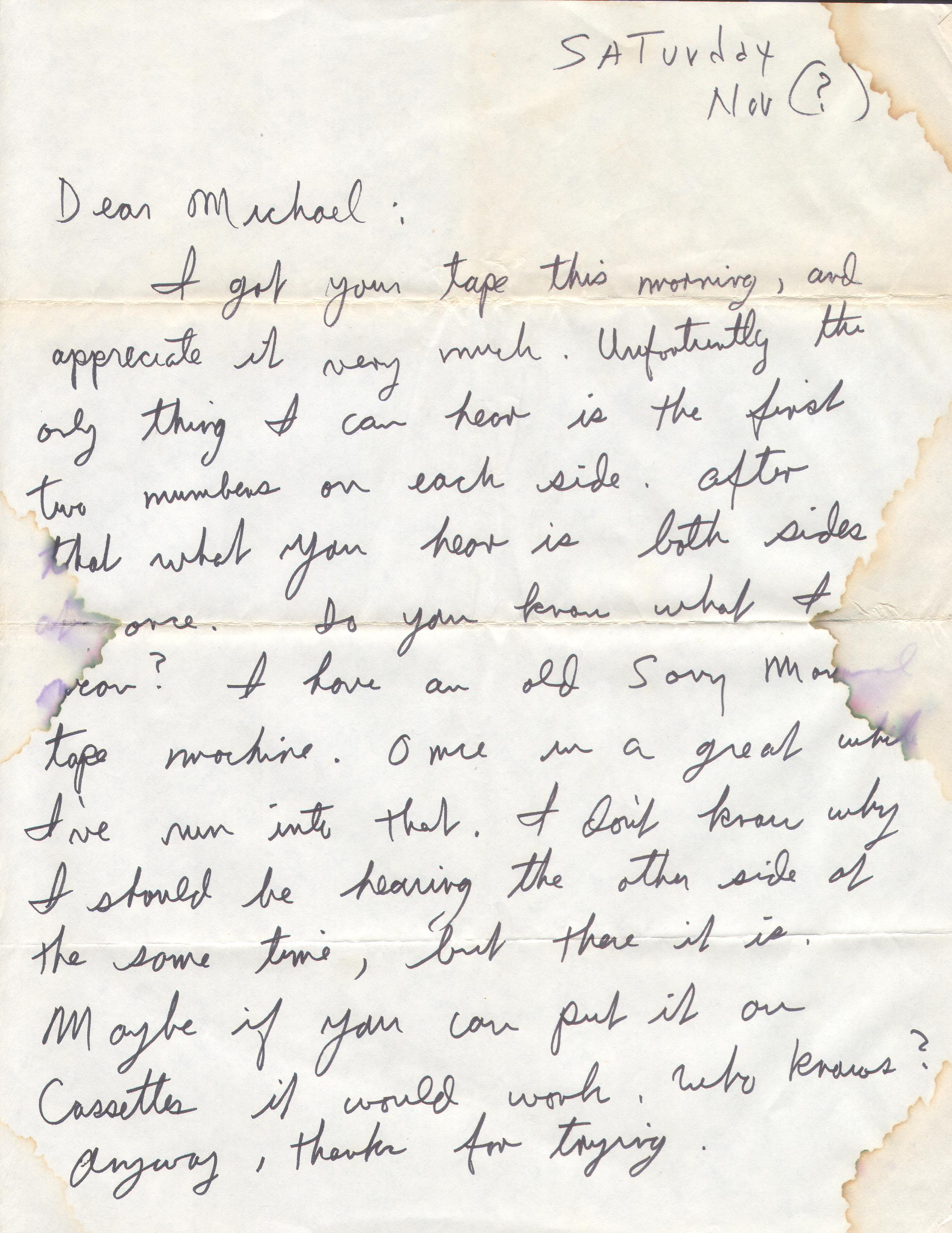 Bad Mannered  Letters