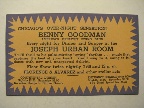 BENNY GOODMAN URBAN ROOM