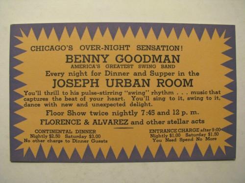 BENNY GOODMAN URBAN ROOM