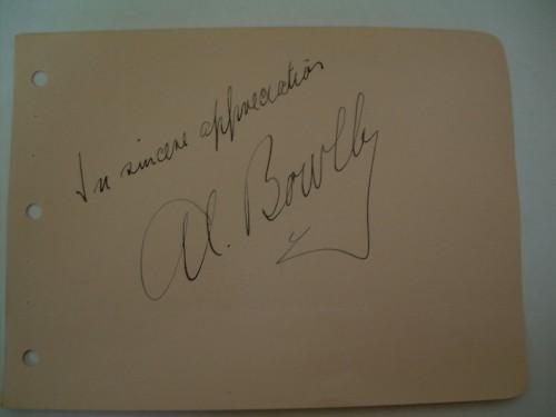 AL BOWLLY autograph