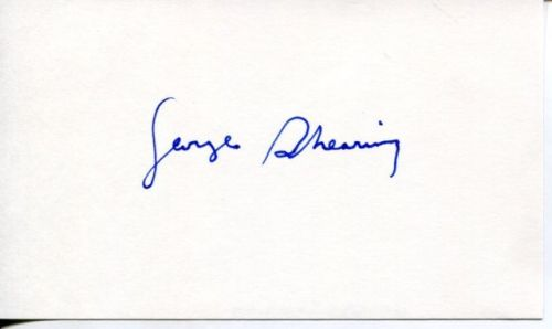 George Shearing autograph