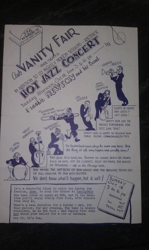FRANKIE NEWTON 1947 flyer