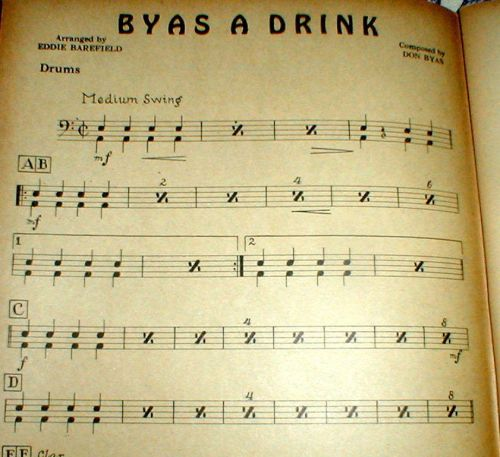BYAS A DRINK drum part