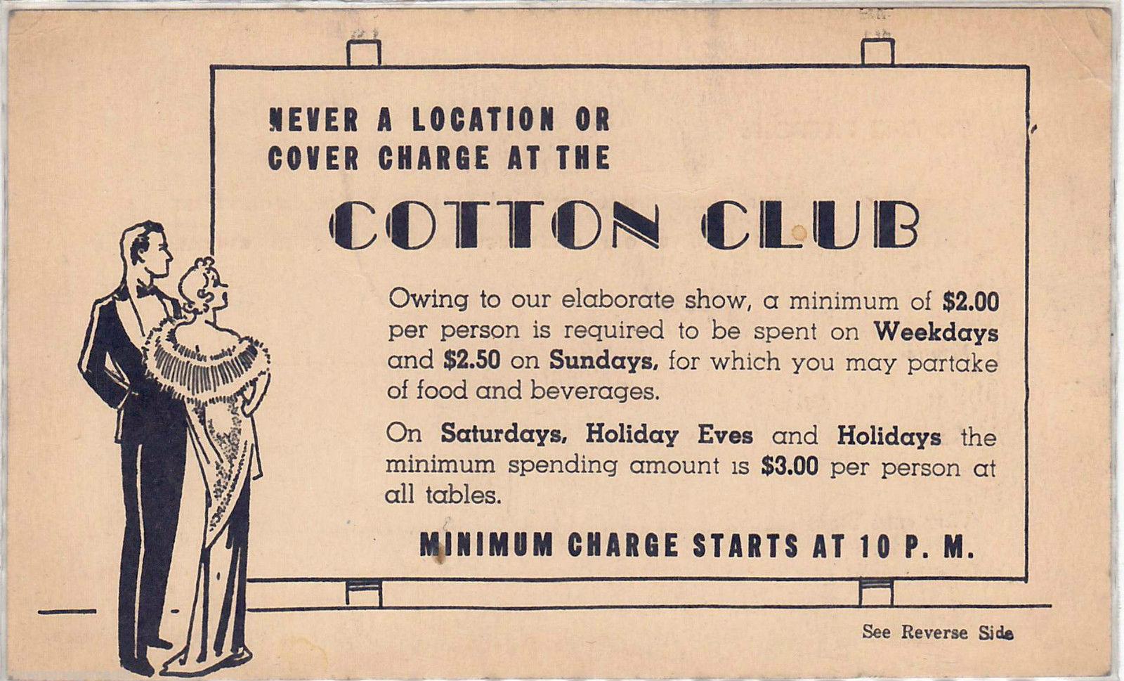 COTTON CLUB front