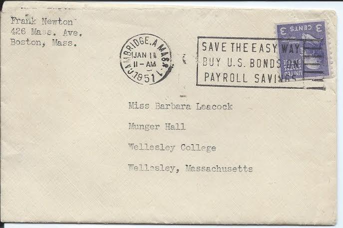 NEWTON letter 1 envelope
