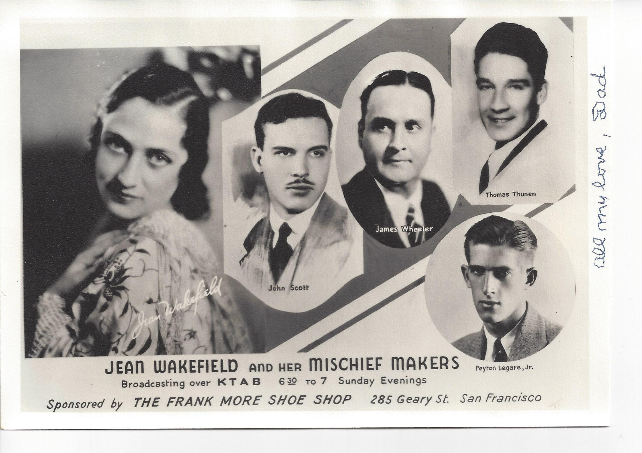 Jean Wakefield & Her Mischief Makers