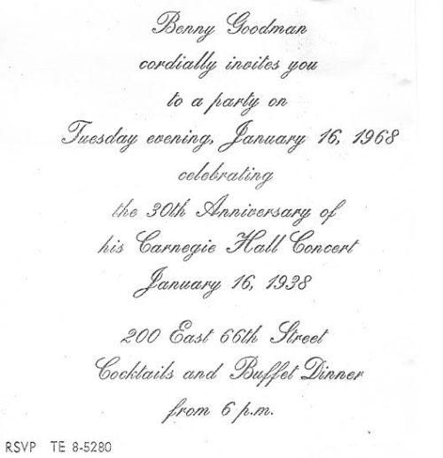 BG 1968 invite
