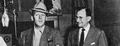 Bing Crosby and Jack Kapp (1901-1949) in the studio