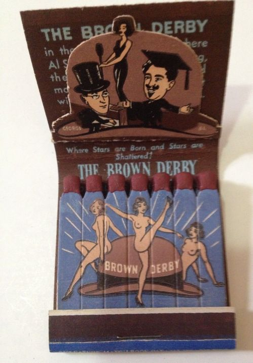 BROWN DERBY matchbook inside