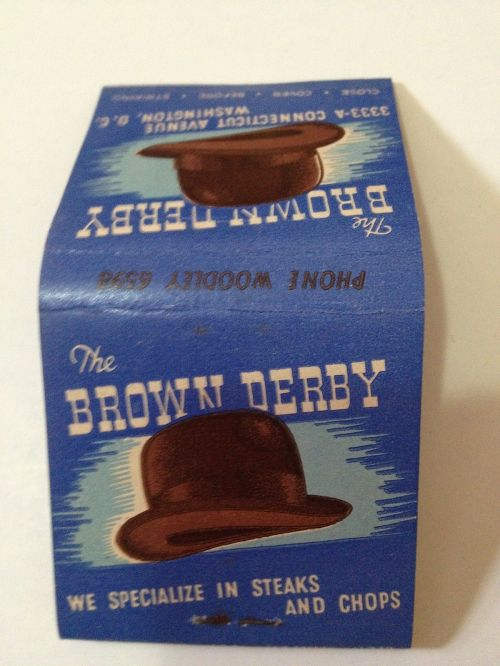 BROWN DERBY matchbook outside