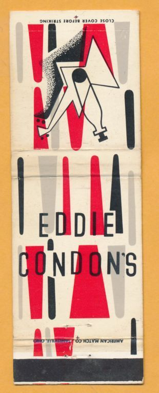 EDDIE CONDON'S matchbook front