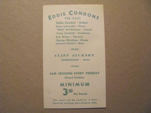 CONDON'S circa 1958