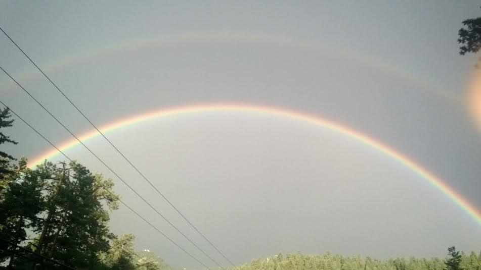 Double rainbow, Evergreen, Colorado, 2014. Photograph by Michael Steinman