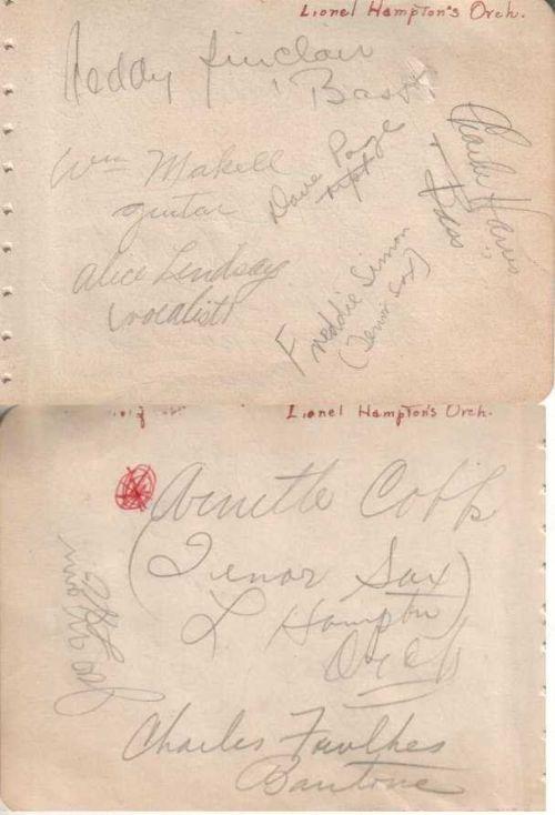 HAMPTON autographs 1945