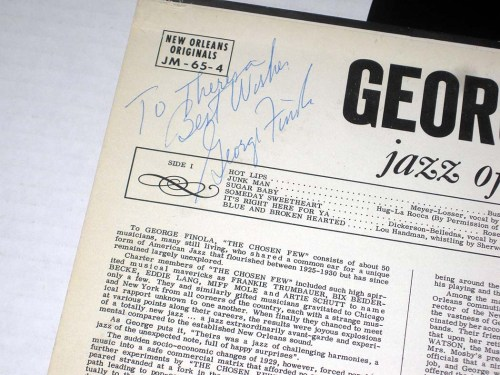 george finola autograph