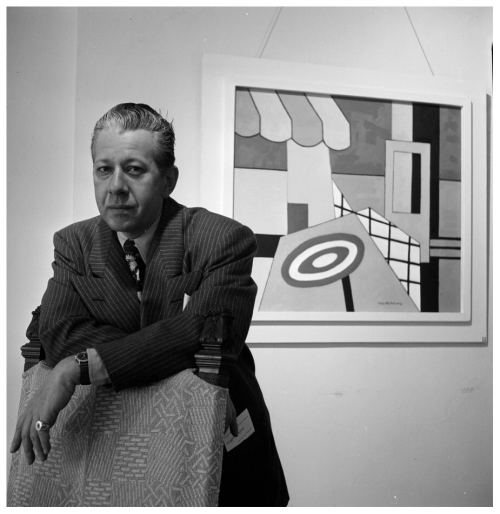George Wettling, painter, c. 1948, by William Gottlieb
