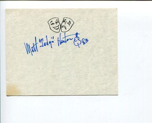 MILT autograph 1983