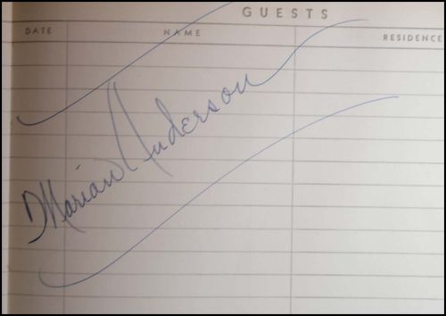AUTOGRAPH BOOK NINE Marian Anderson