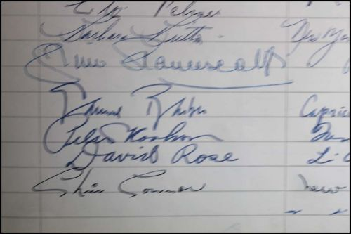 AUTOGRAPH BOOK SIX Chris Connor David Rose