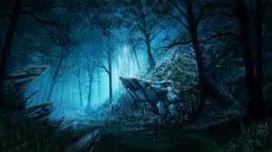 blue dark forest