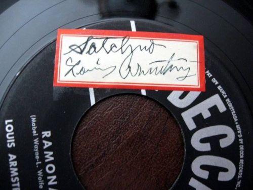 LOUIS Ramona Decca 45 autograph