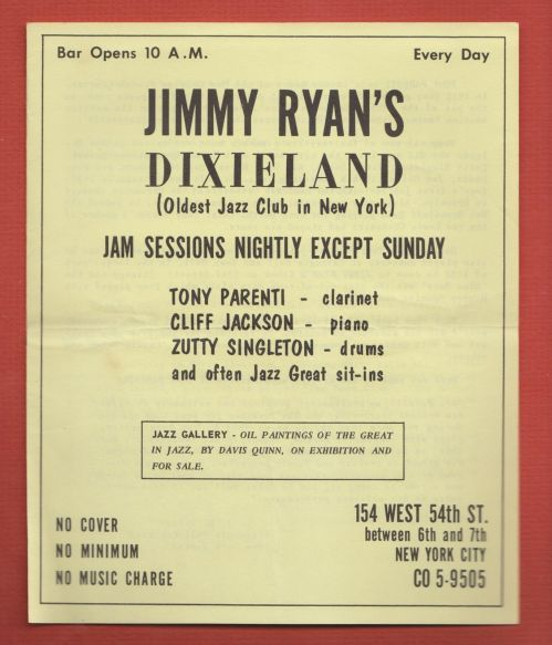 RYAN'S 1963 front