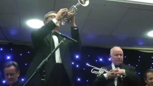 TWO DEUCES! Bent Persson and Enrico Tomasso at the 2014 Whitley Bay Classic Jazz Party