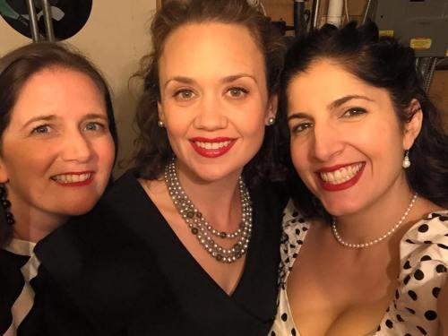 Happy Birthday, Duchess! That's Amy, Hilary, and Melissa.