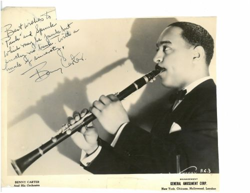 BENNY CARTER inscribed