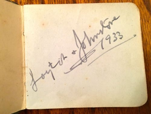 LOUIS second autograph book page 4 Layton and Johnstone