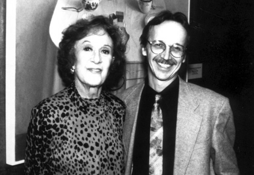 Marian McPartland and Monk Rowe, photo by Val DeVisser