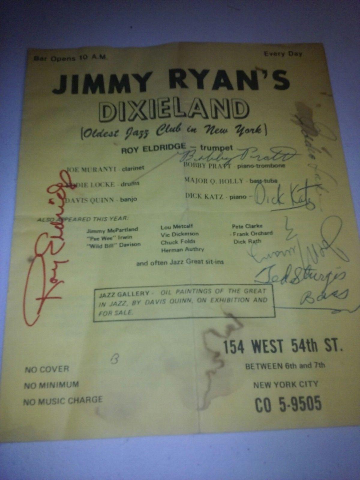 JIMMY RYAN'S DIXIELAND flyer