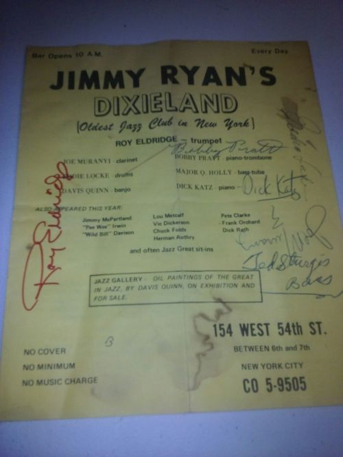 JIMMY RYAN'S DIXIELAND flyer