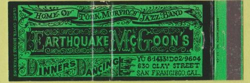 TURK MURPHY matchbook