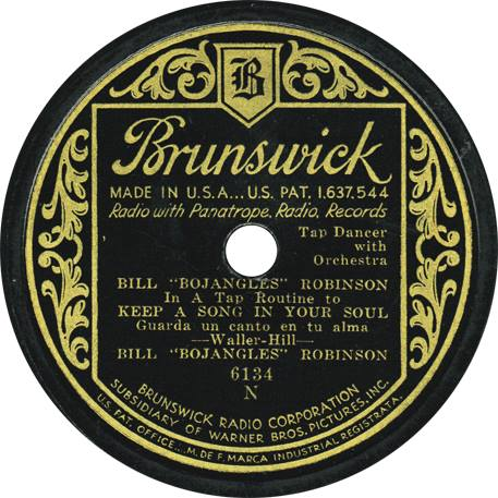 SONG IN YOUR SOUL Brunswick Bill Robinson