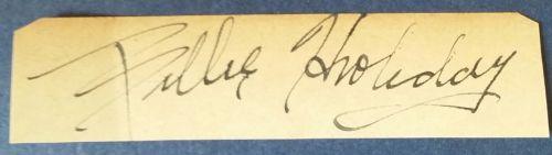 BILLIE autograph 4 16