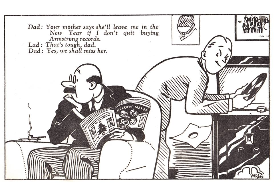 LOUIS cartoon in Melody Maker Jan. 1933