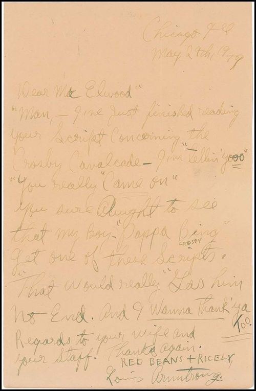LOUIS LETTER ABOUT BING 1949