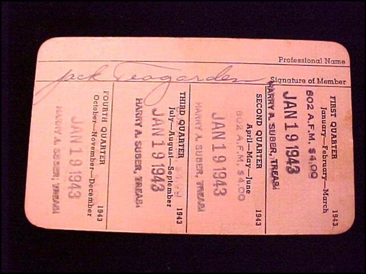 JACK TEAGARDEN union card back