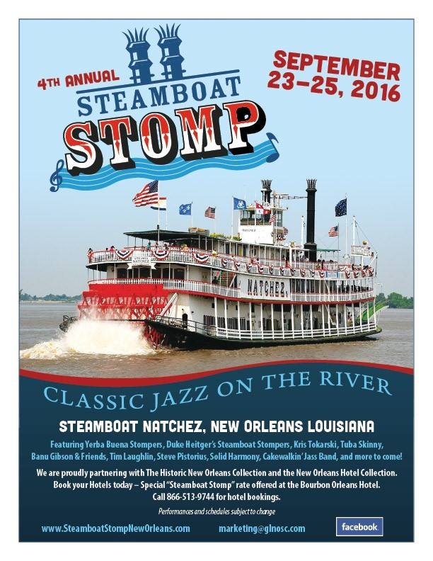 STEAMBOAT STOMP 2016 poster