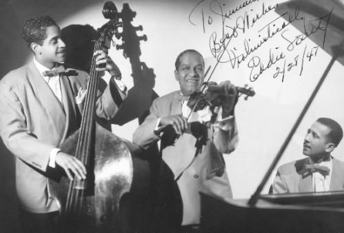 Leonard Gaskin, Eddie South, Allen Tinney, 1947.