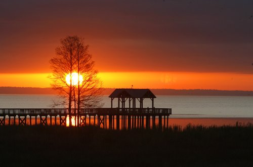 Sunrise over Mobile Bay