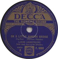 ON A LITTLE BAMBOO BRIDGE two label