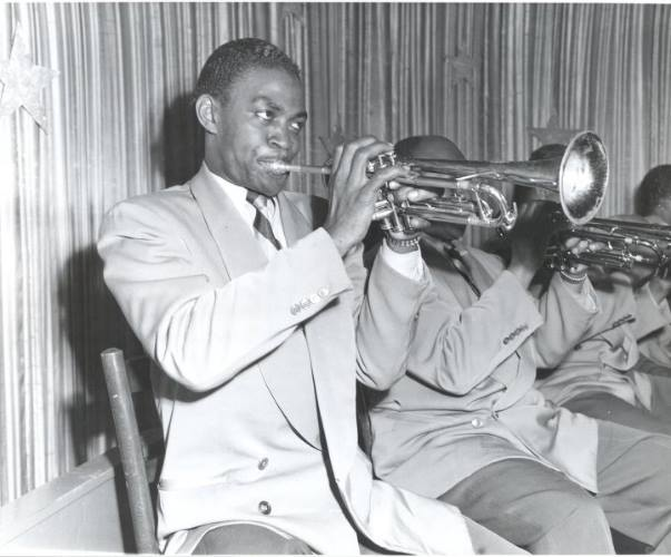 Taft as a member of the Ellington orchestra. Photograph by Charlie Mihn, courtesy of Chuck Slate.