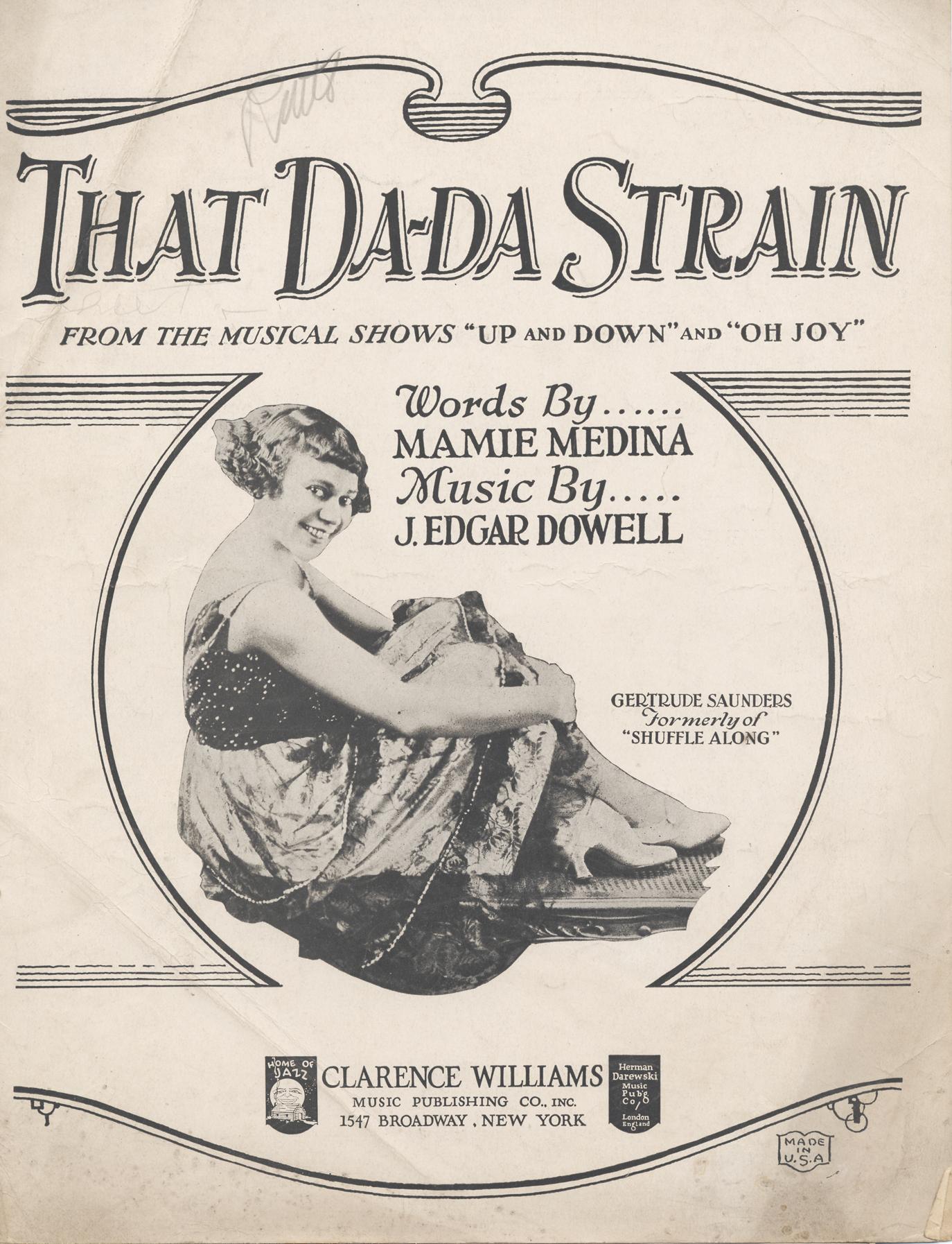 that Da Da Strain sheet music